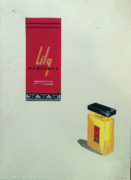 Devendra K. Raje (India/Canada Active 1950-1980's) Lily Perfumes Original advertising design.