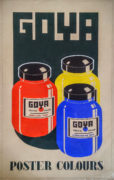 Devendra K. Raje (India/Canada Active 1950-1980's) Goya Poster Colours Original advertising design