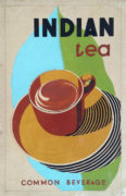 Devendra K. Raje (India/Canada Active 1950-1980's) Indian Tea. Common Beverage. Original advertising design