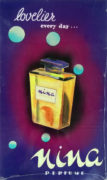 Devendra K. Raje (India/Canada Active 1950-1980's) Lovelier You every day… NINA perfume Original advertising design
