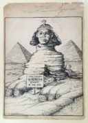 """Arthur George Racey (Canadian 1870-1941) Crown of Egypt """"Unequivocal. A sign that admits of only one interpretation"""""""