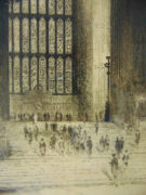 Richard George Mathews (Canadian 1870 -1955) The Great Window, Westminster Hall
