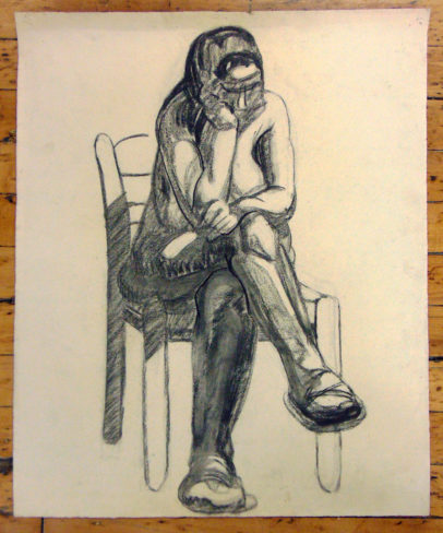 Seated Nude with Chair