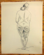 Isabel McLaughlin CM, O.Ont, CGP, Hon. CPA (Canadian 1903-2002) Standing Nude 3