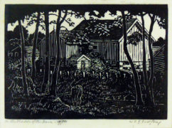 William Frederick George Godfrey (Canadian 1884 - 1971) In the Shadow of the Barn