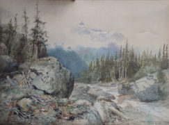 "Frederic Marlett Bell-Smith OSA RCA (Canadian 1846-1923) ""Cheops from the Path to the Glacier Selkirks B.C."""