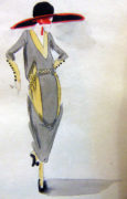 ART DECO Original Fashion Watercolors 1920s