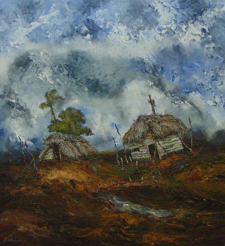 Huts in a Landscape