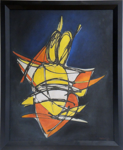 Orange and Yellow Abstract Fish